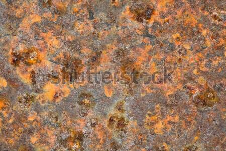 Grunge Metal eski kahverengi paslı dengesiz Stok fotoğraf © pzaxe