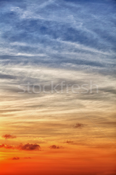 Vertical sky background with gradient from blue to orange Stock photo © pzaxe