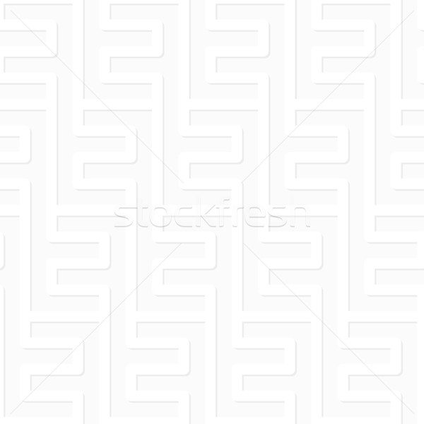 Vector pattern - geometric seamless simple black and white moder Stock photo © pzaxe