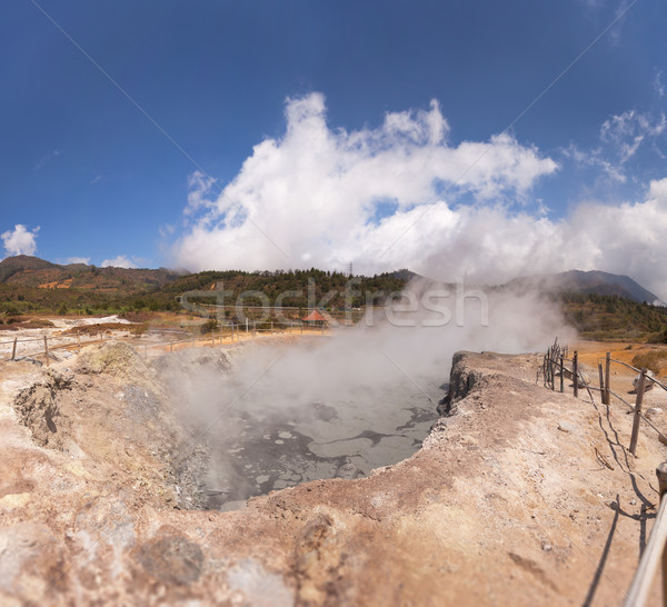 Steaming Geyser in Java, Indonesia Stock photo © pzaxe