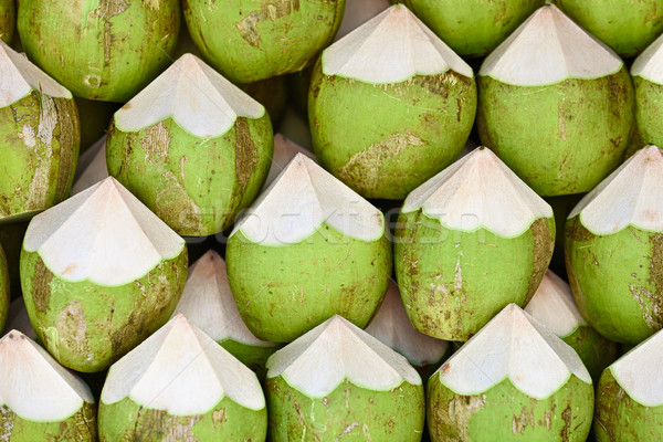 Kókuszdió elad kész étel természet háttér Stock fotó © pzaxe