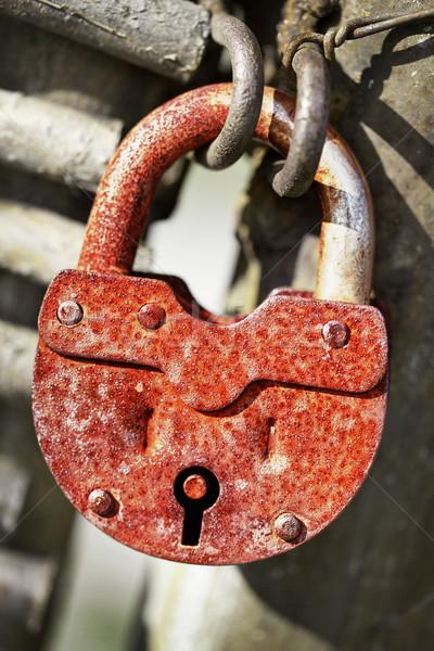 Rusty old padlock Stock photo © pzaxe