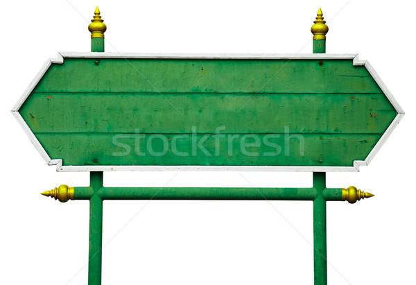 Foto stock: Velho · bandeira · isolado · branco · projeto