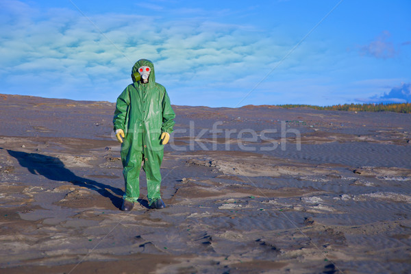 Environmental scientist in zone of ecological disaster Stock photo © pzaxe