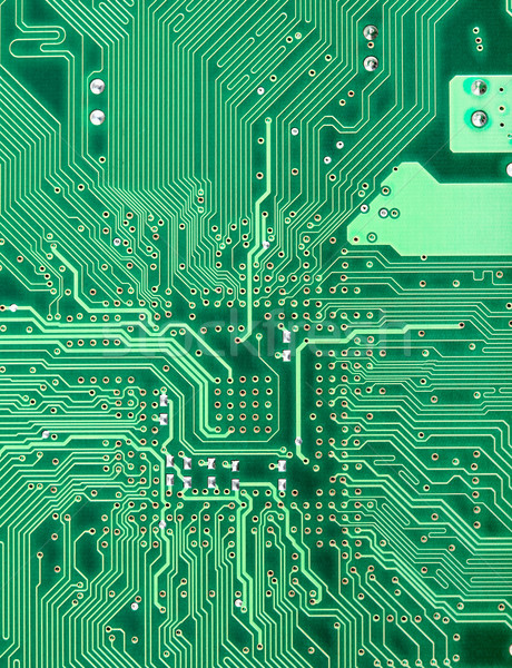 Background from green circuit board close up Stock photo © pzaxe