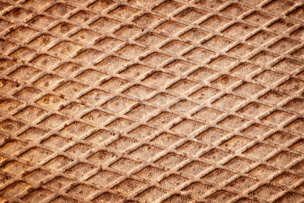Rusty metal cubierta superficie textura pared Foto stock © pzaxe