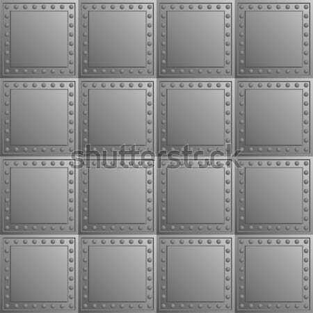 Steel bullet-proof lining - vector texture Stock photo © pzaxe