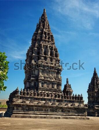 Templo java Indonésia complexo paisagem Foto stock © pzaxe