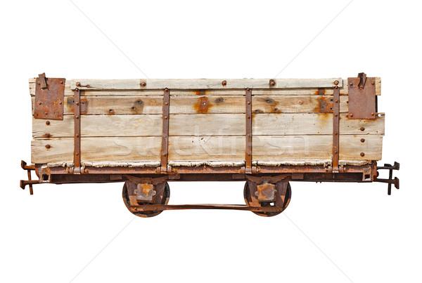 Vintage wooden car for narrow-gauge railway Stock photo © pzaxe