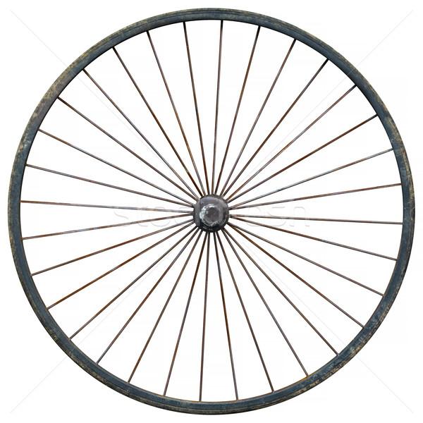 Wagon Wheel Against a White Background Stock photo © pzaxe