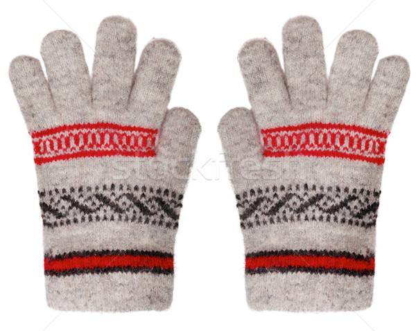 Wełniany rękawice odizolowany biały pary tle Zdjęcia stock © pzaxe