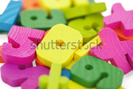 Wooden toys extreme close up Stock photo © pzaxe