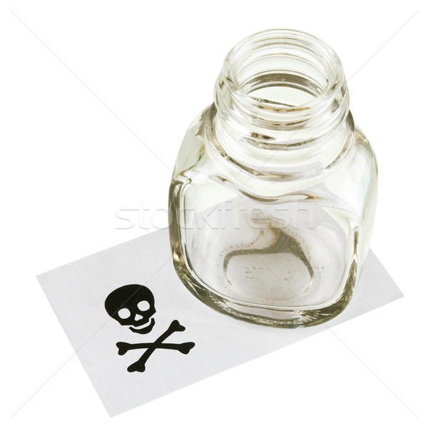 Cupping-glass and skull and crossbones Stock photo © pzaxe