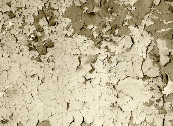 Eski boya beton duvar sepya Stok fotoğraf © pzaxe