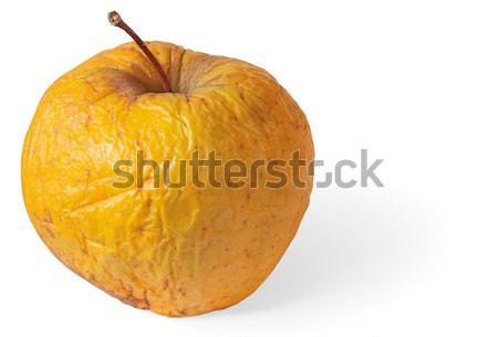Podre secar nojento maçã isolado branco Foto stock © pzaxe
