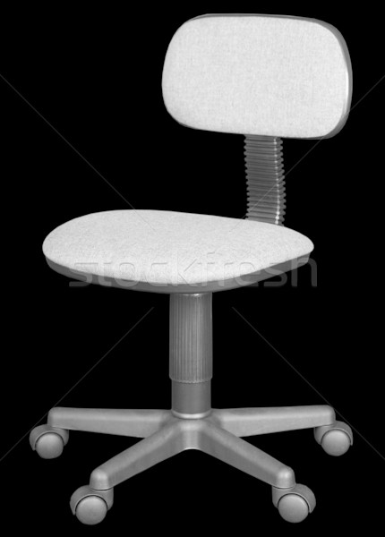 Office chair isolated on black Stock photo © pzaxe