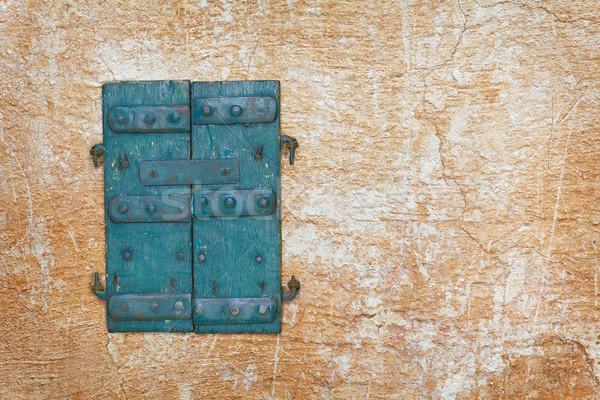 Vecchio porte muro legno legno Foto d'archivio © pzaxe