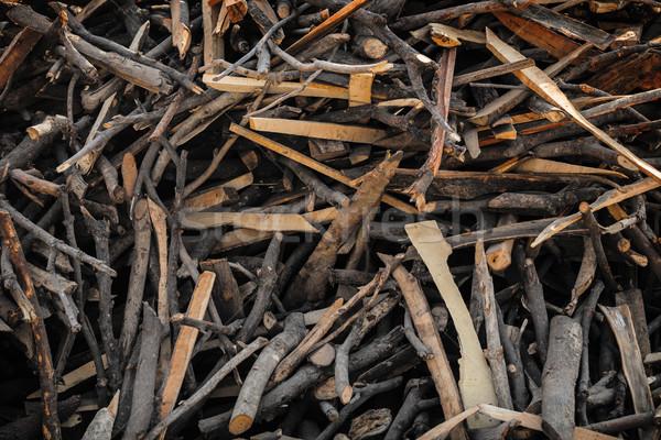 Bois de chauffage utilisé indian désert cuisson bois Photo stock © pzaxe