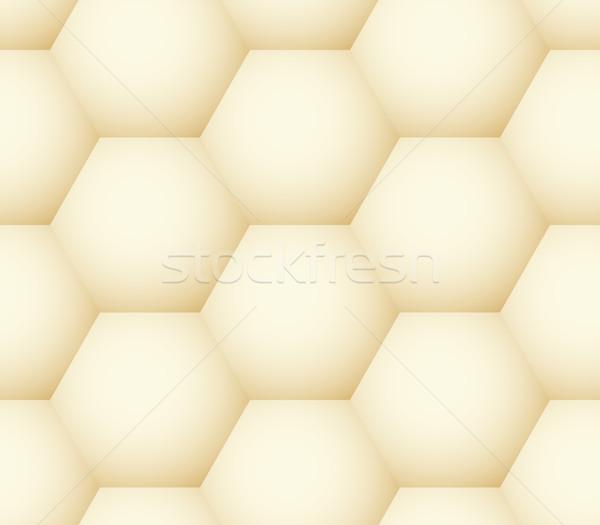 Vector meetkundig honingraat zoals eenvoudige Stockfoto © pzaxe