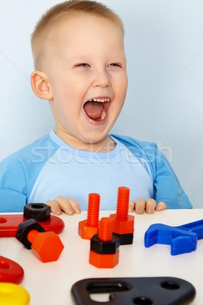 Jubilant children with toys Stock photo © pzaxe