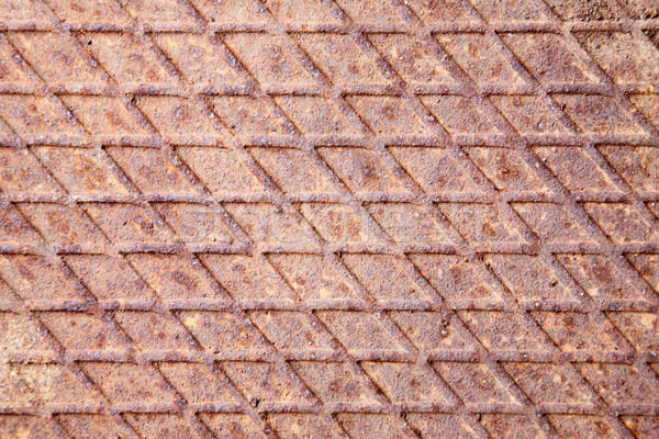 Paslı endüstriyel Metal zemin dengesiz duvar Stok fotoğraf © pzaxe