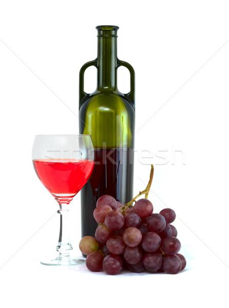 Bright still life with wine Stock photo © pzaxe