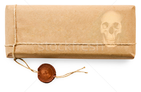 Deadly postal parcel on white background Stock photo © pzaxe