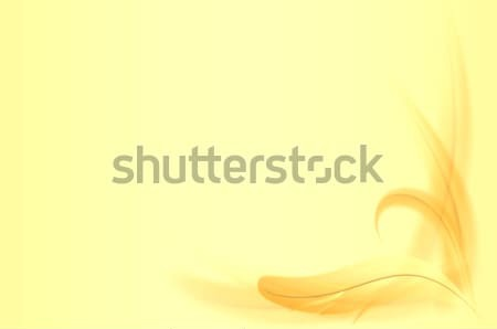 Abstract yellow feathers background Stock photo © pzaxe