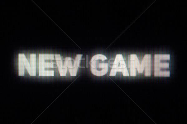 Novo jogo monitor lcd abstrato projeto Foto stock © pzaxe