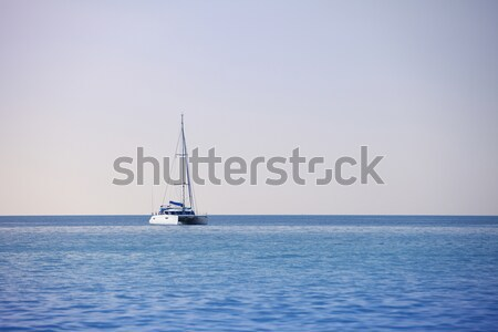 Blanco vela catamarán mar limpio Foto stock © pzaxe