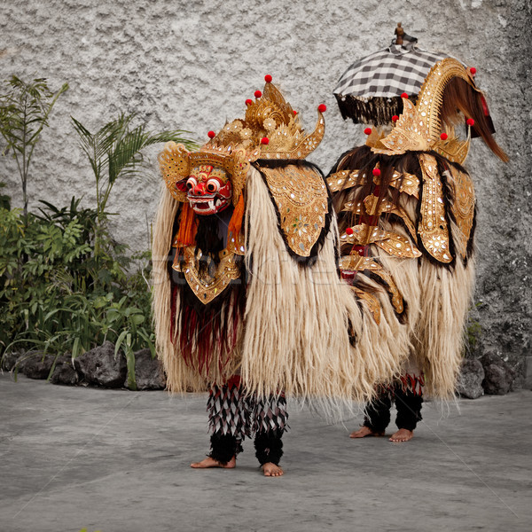 Traditional costume for theater - Barong. Indonesia, Bali Stock photo © pzaxe