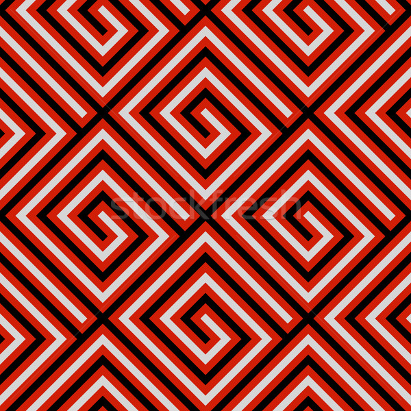 Vector red, white and black seamless tribal pattern. New Zealand Stock photo © pzaxe