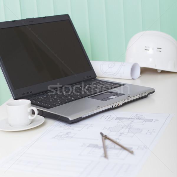 служба свет месте инженер ноутбука современных Сток-фото © pzaxe