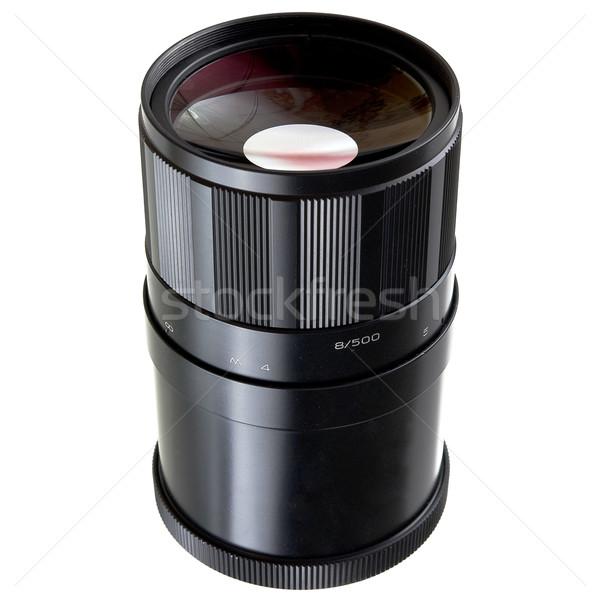 Vecchio specchio lenti obiettivo vetro foto Foto d'archivio © pzaxe