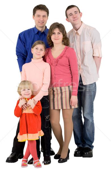 Aile adam kadın çocuk beyaz çocuklar Stok fotoğraf © pzaxe