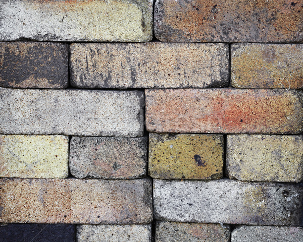 Stacked fireproof bricks background Stock photo © pzaxe