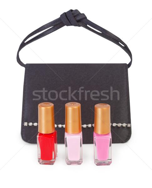 Küçük çanta tırnak cilası siyah üç moda Stok fotoğraf © pzaxe