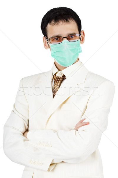 Portrait of businessman in medical mask Stock photo © pzaxe
