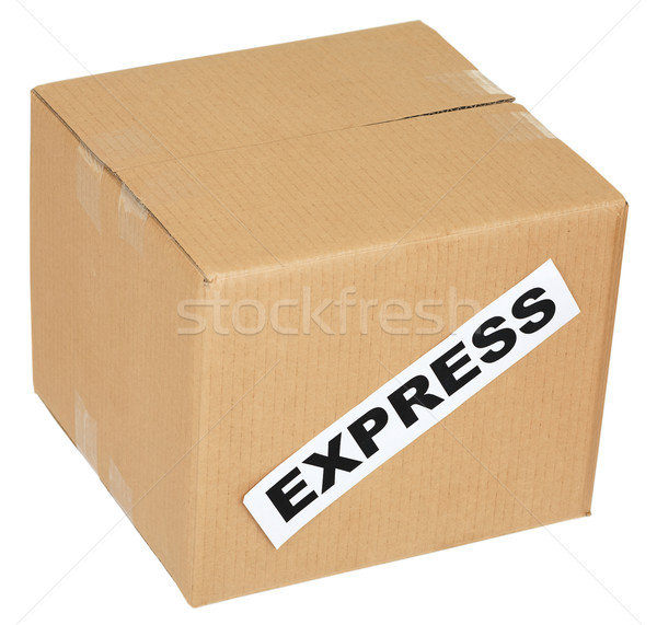 Cardboard box with an inscription express Stock photo © pzaxe