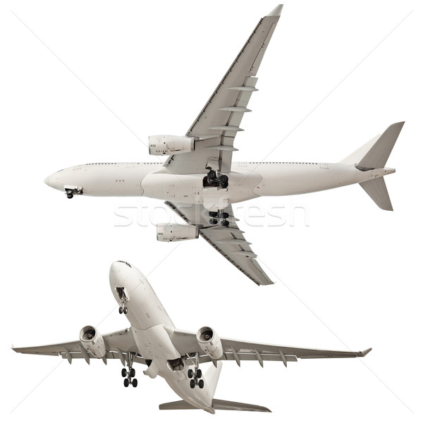 Airplane isolated on white background Stock photo © pzaxe