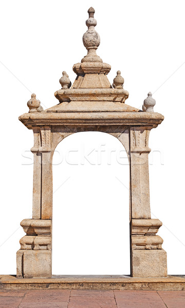 Stone arch isolated over white Stock photo © pzaxe
