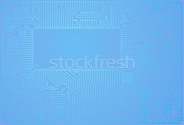 Vektor abstrakten blau Platine horizontal Design Stock foto © pzaxe