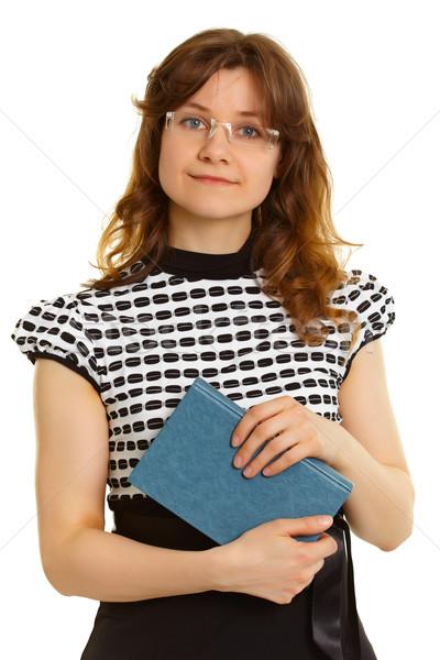 женщину взрослый студент книга белый портрет Сток-фото © pzaxe