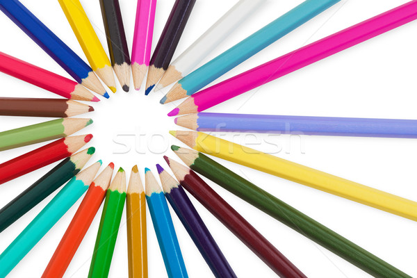 Establecer lápices blanco aislado lápiz Foto stock © pzaxe