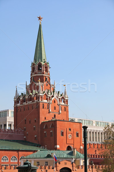 Troitskaya tower. Russia, Moscow, Kremlin. Stock photo © pzaxe