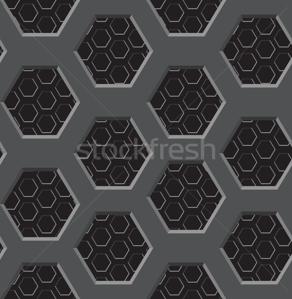 Seamless texture - two-layer lattice with six-coal apertures Stock photo © pzaxe