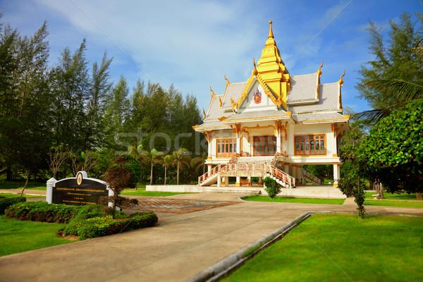 Buddhistisch Tempel tropischen Vegetation Thailand Stock foto © pzaxe