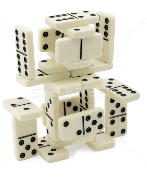 Abstract figure of dominoes Stock photo © pzaxe
