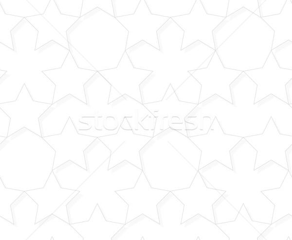 Vector seamless pattern - geometric light star background Stock photo © pzaxe