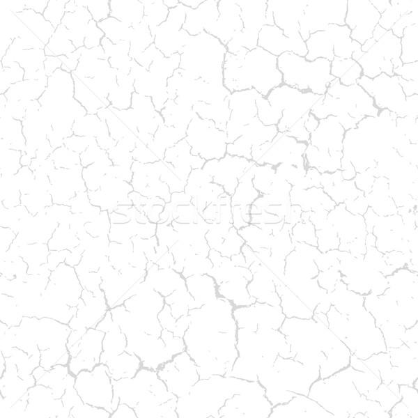 Cracked seamless pattern vector split texture. Light gray cracks Stock photo © pzaxe